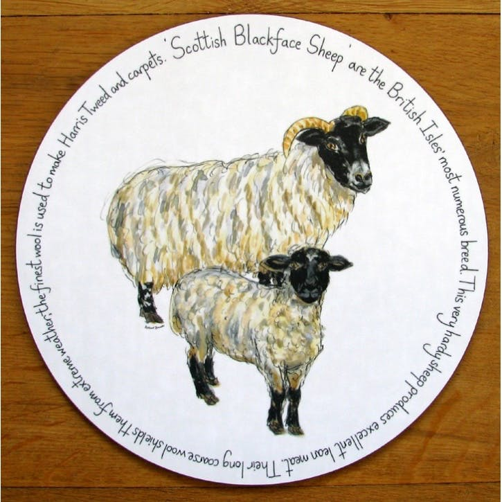 Blackface Sheep Tablemat - 28cm