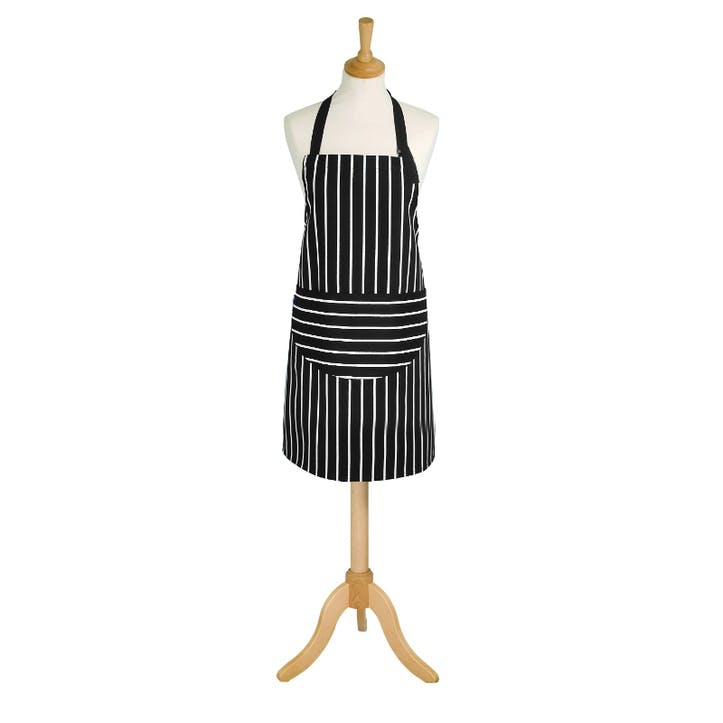 Butchers Stripe Apron, Slate Grey