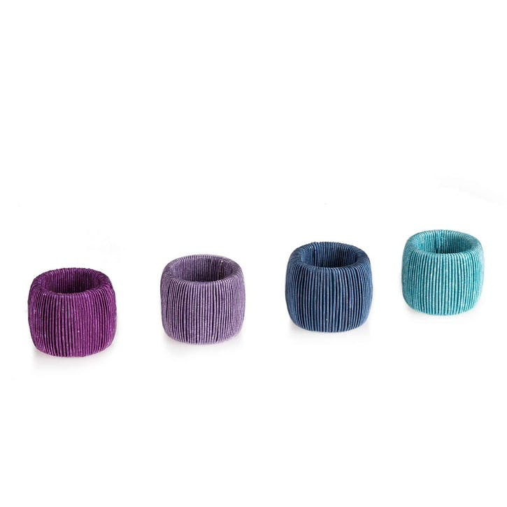 Ciel Cord Napkin Rings, Set of 8