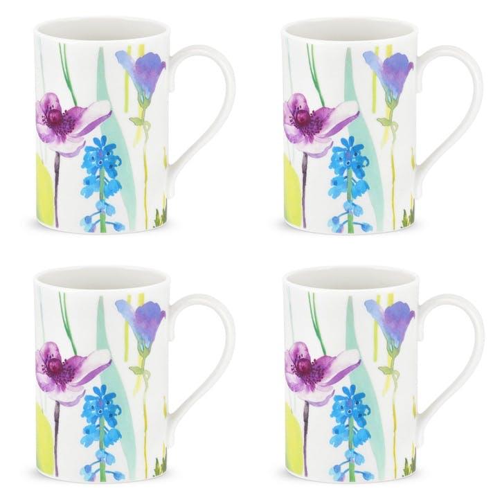 Water Garden Mugs, Set of 4