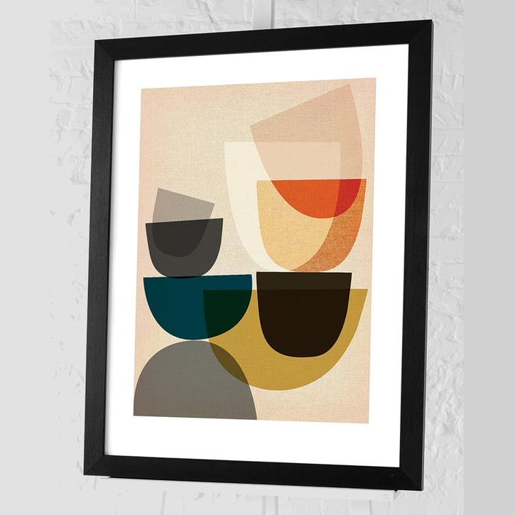 Nicola Evans Mid-Century Modern I Framed Print - 68 x 88cm