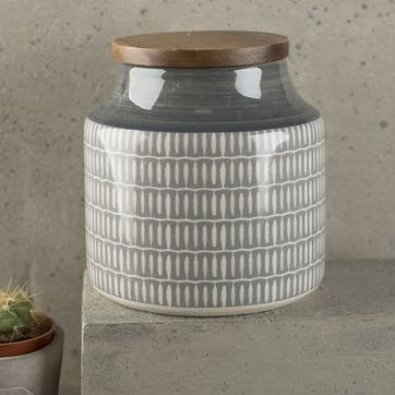 Drift Grey Storage Jar