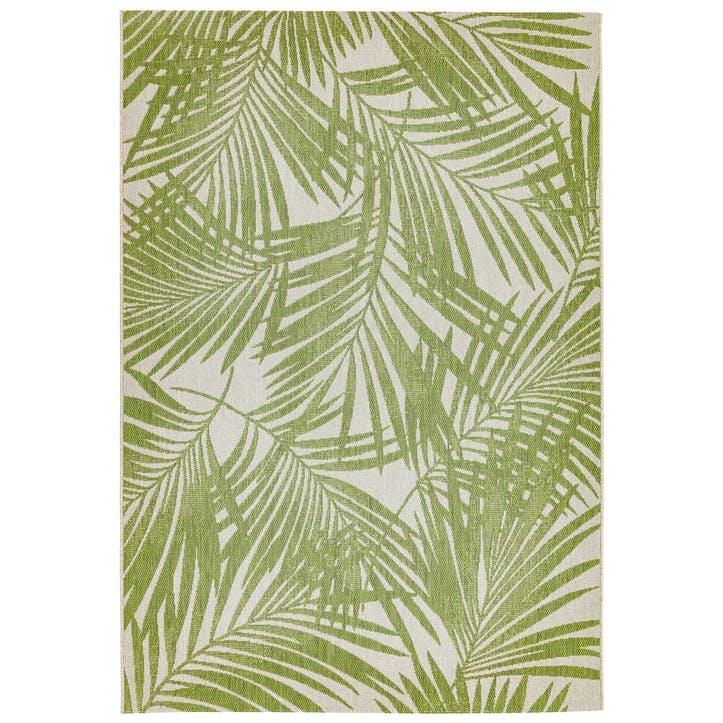 Patio Rug, 0.8 x 1.5m, Green Palm