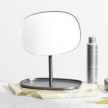 Flip Vanity Mirror L28 x D19.4 x H34.5 Grey