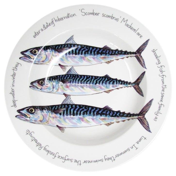 Mackerel Flat Rimmed Plate - 30cm