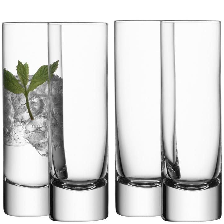 LSA Bar Long Drink Glass, 250 ml, Set of 4