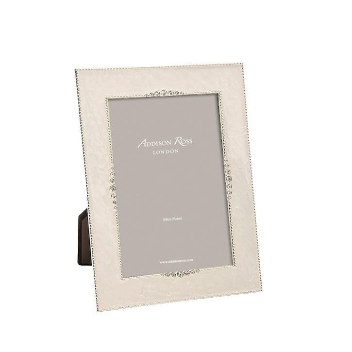"Starburst Enamel Photo Frame - 5""x7""; Cream"