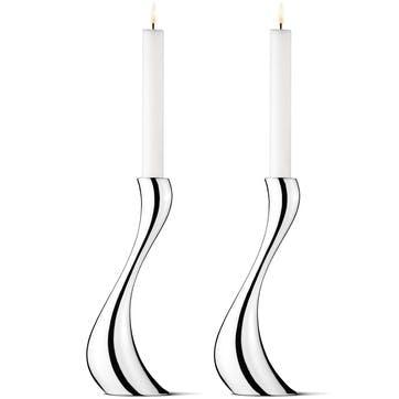 Large Cobra Candle Holders, Set of 2