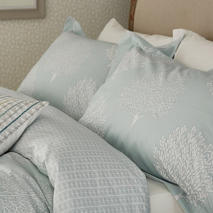 Coraline Oxford Pillowcase, Marine