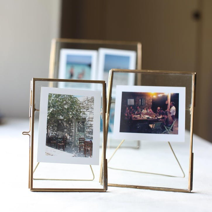 Danta Antique Frame - 5 x 7; Brass