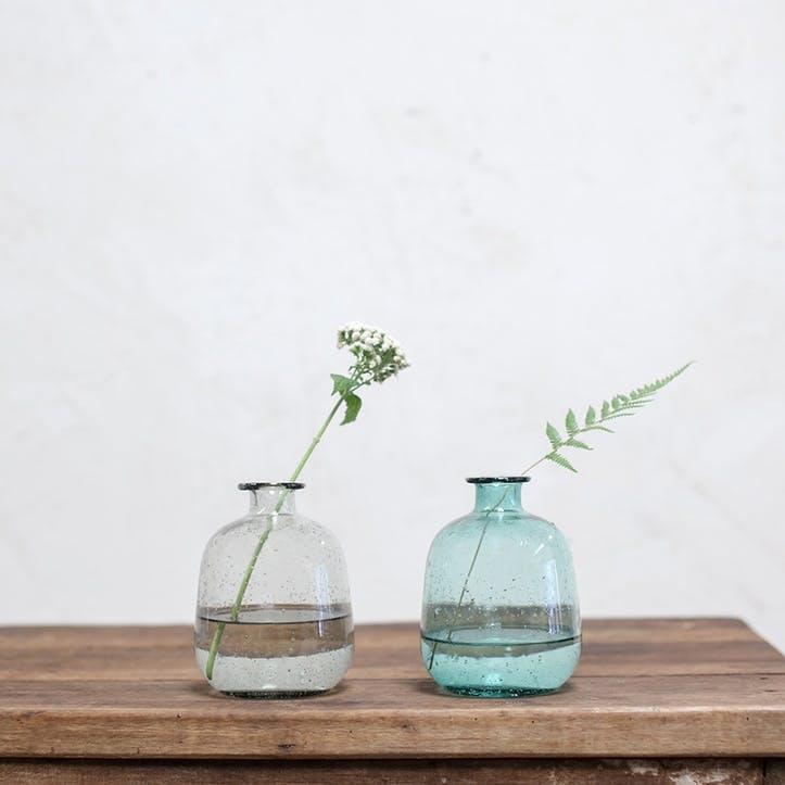 Toska Glass Bottle; Smoke Grey
