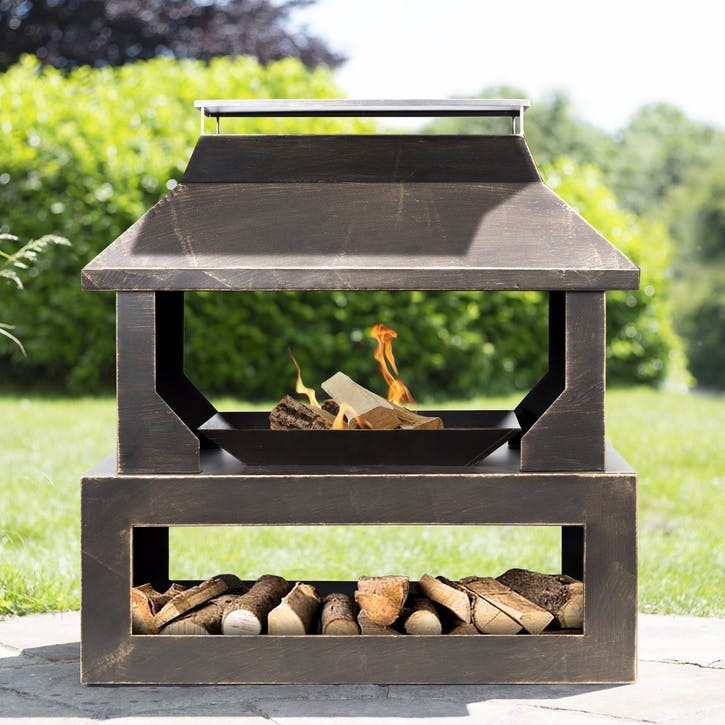 Stonehurst Steel Outdoor Fireplace