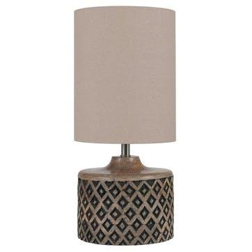 Orissa Short Wooden Diamond Table Lamp