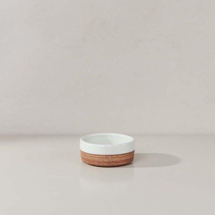Mali Ribbed Nibble Bowl; White