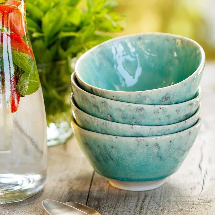 Madeira Blue Soup/ Cereal Bowls, Set of 6