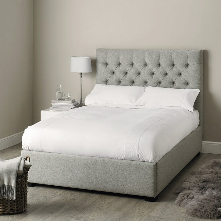 Richmond Wool Bed, Double, Light Grey