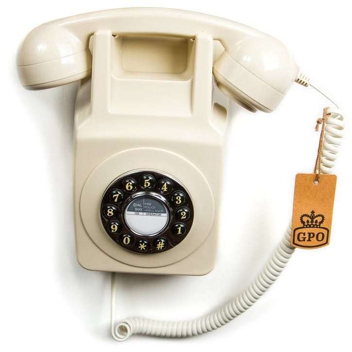 746 Wall Push Button Telephone; Ivory