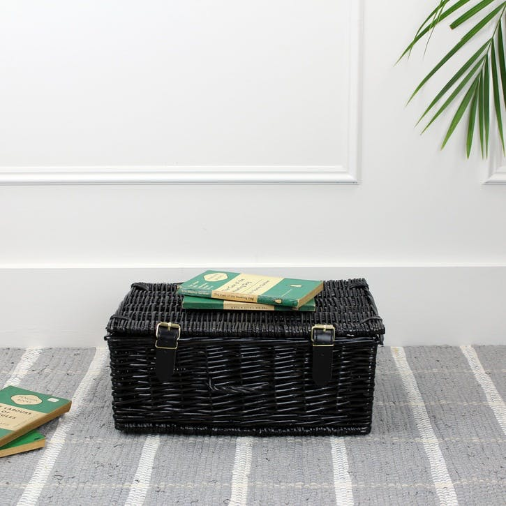 Polywicker Hamper Basket; Black