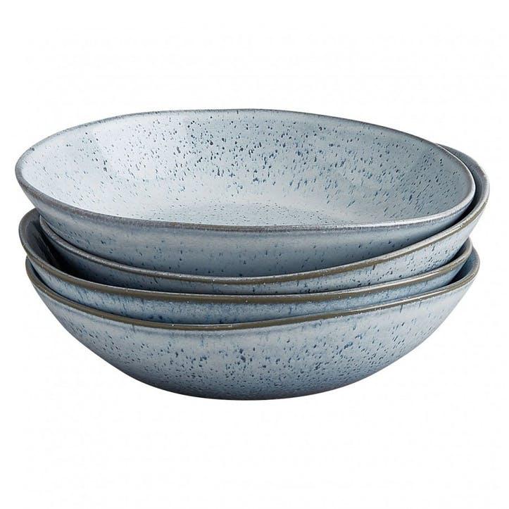 Olmo Pasta Bowl, Set of 4, Light Blue