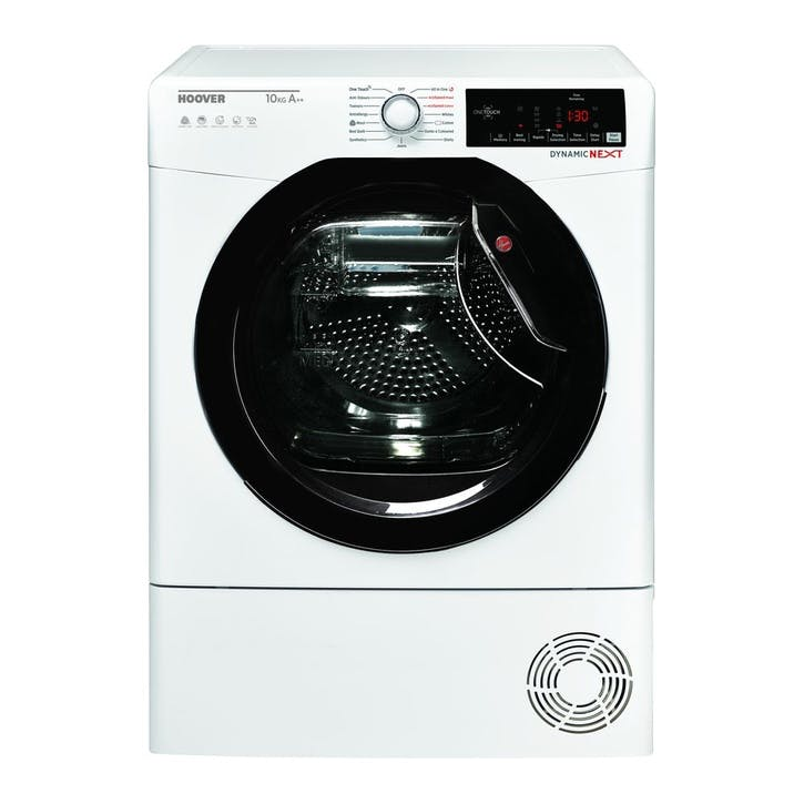 DX HY10A2TKE Dynamic Next Smart 10 kg Heat Pump Tumble Dryer; White with Tinted Door