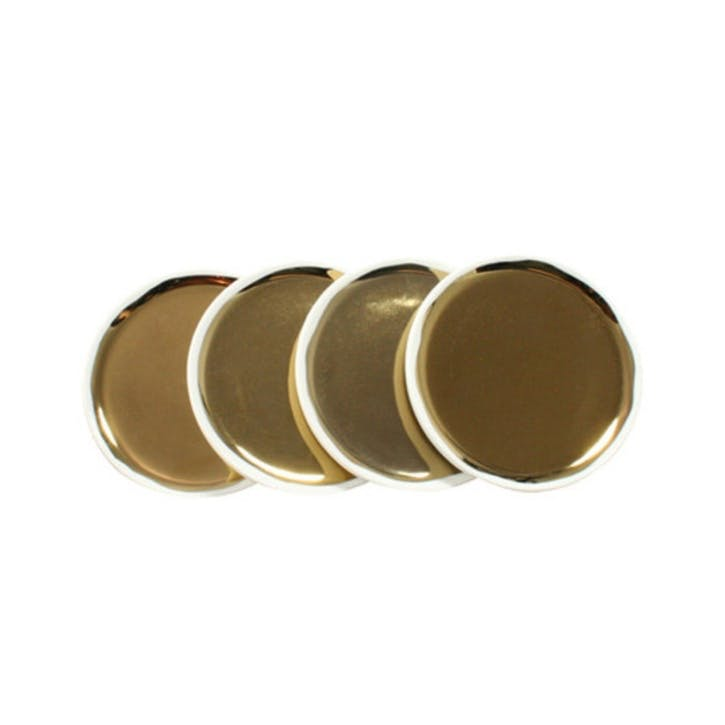 Dauville Coaster, Set of 4, Gold