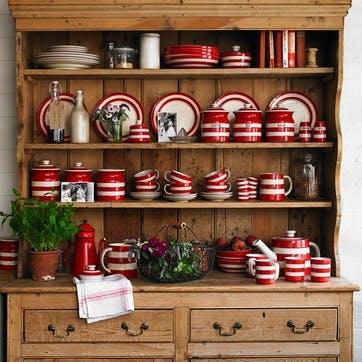 Red Large Storage Jar, 59oz/168cl, Red