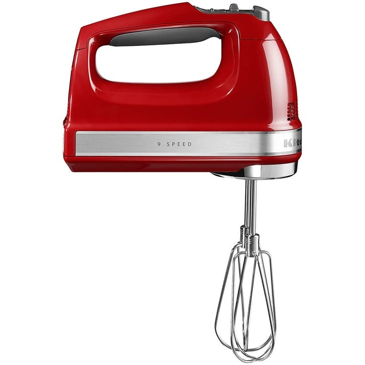 9-speed Hand Mixer; Empire Red