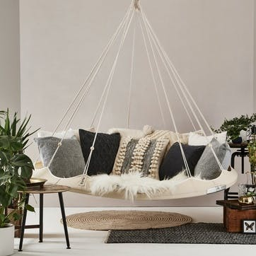 TiiPii Nester Hanging Bed - 1.8m; Natural White