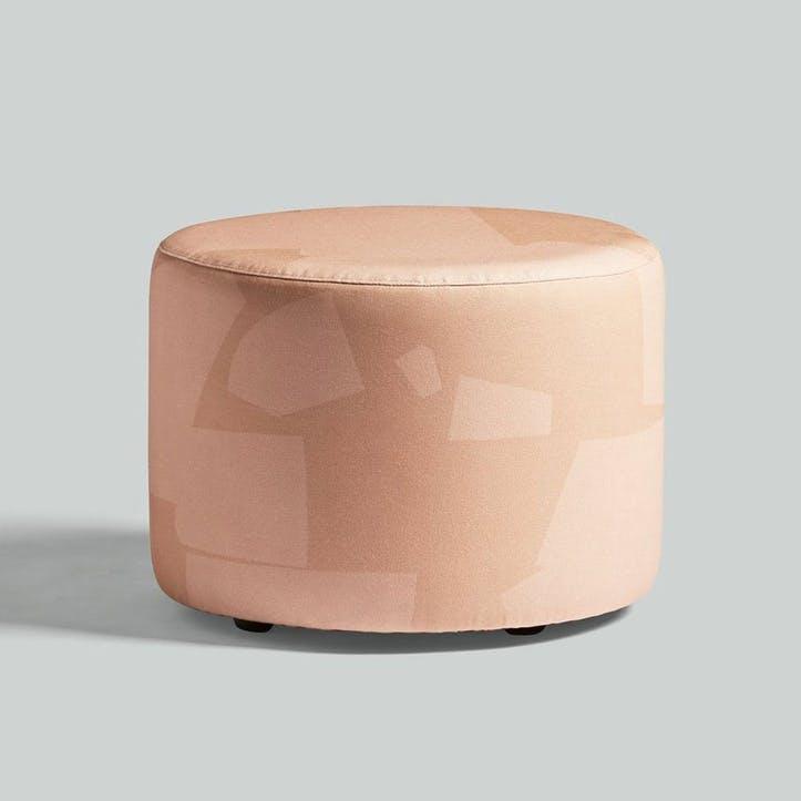 Longis, Roger Lewis Collaboration, Pouffe, H39 x W50cm, Coral