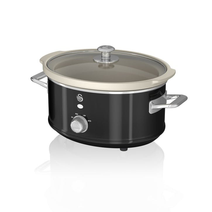Retro 3.5L Slow Cooker, Black