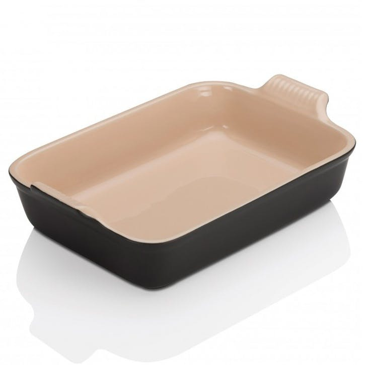 Stoneware Rectangular Dish - 26cm; Satin Black