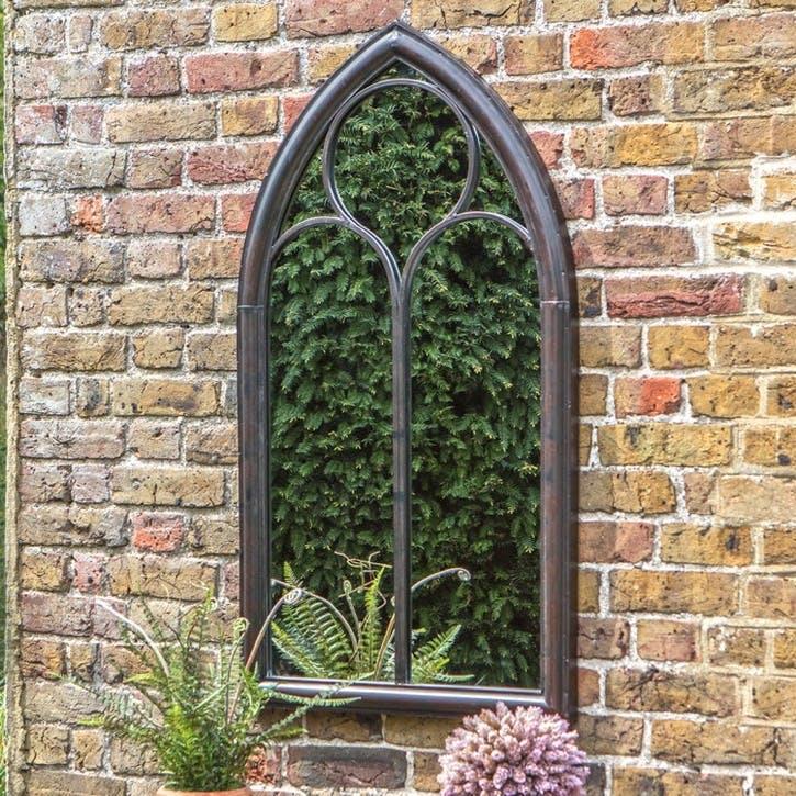 Chapel Outdoor Mirror, Noir
