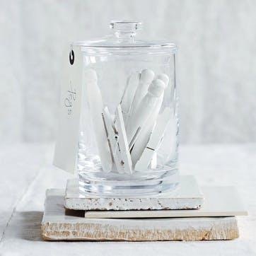 Glass Storage Jar, Tall