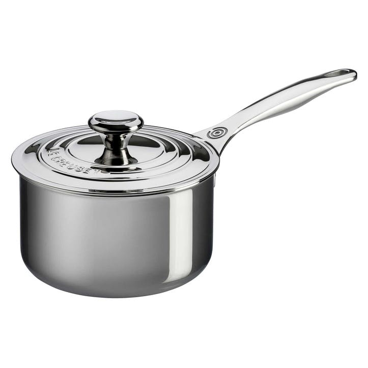 Signature Stainless Steel Saucepan with Lid - 18cm