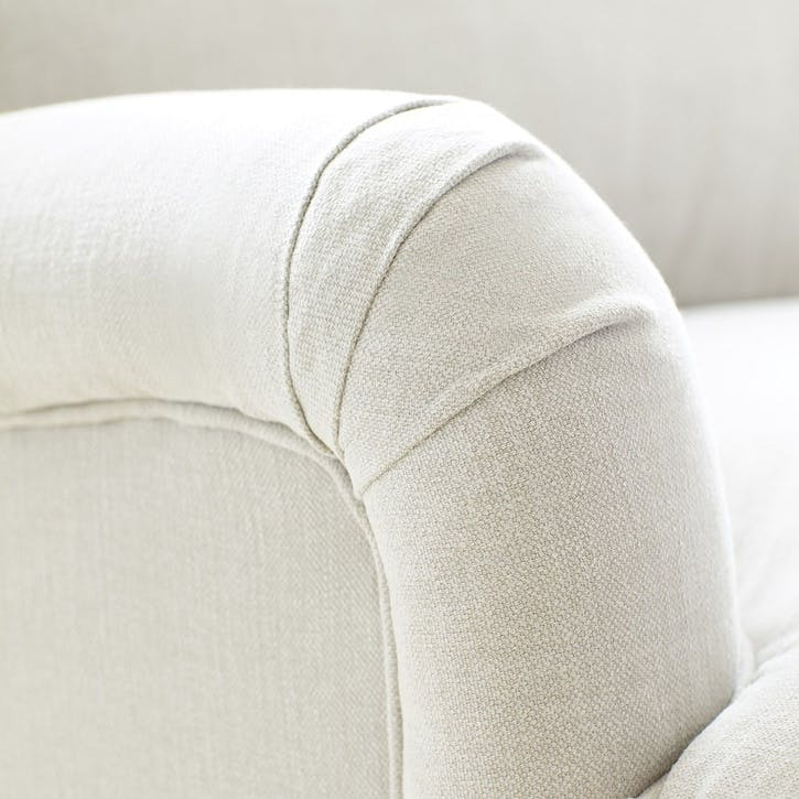 The Bluebell, Armchair, Taupe Brushed Linen Cotton