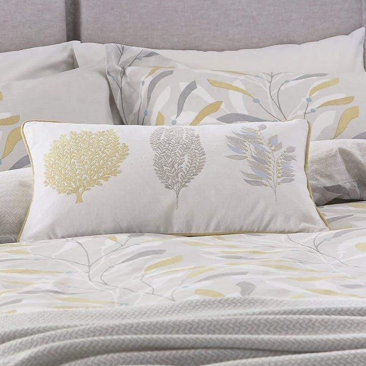 Sea Kelp Embroidered Cushion
