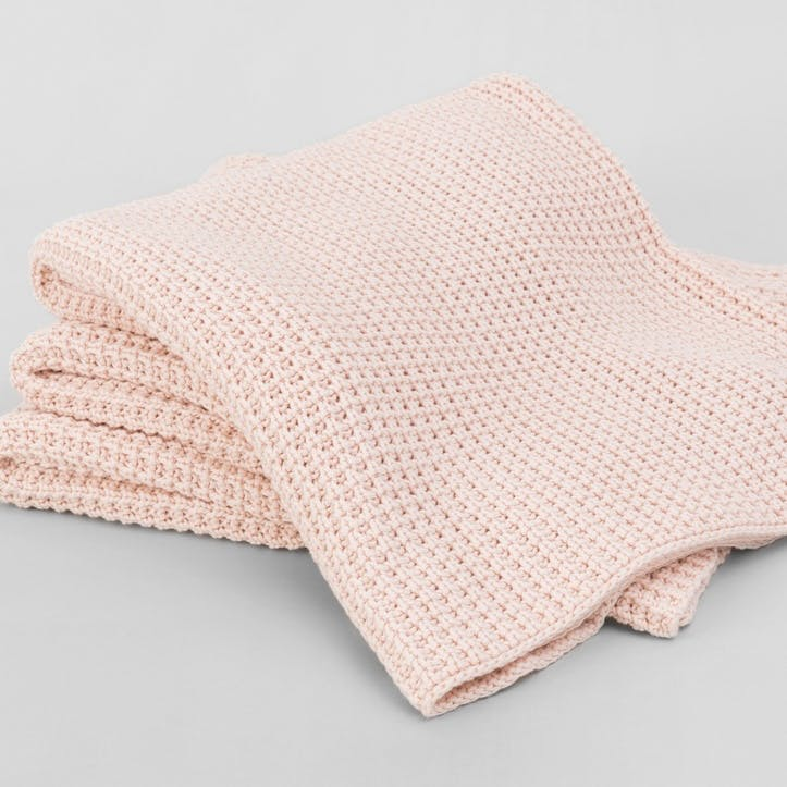 Haden Throw, Soft Pink