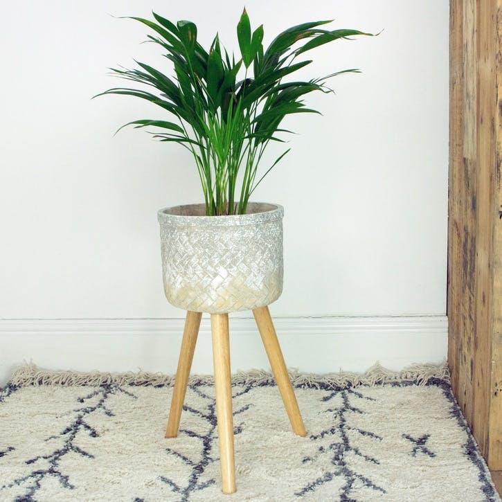 Herringbone Standing Planter, Medium