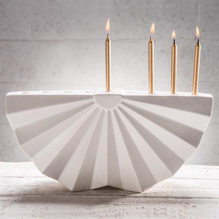 Ceramic Chanukiah