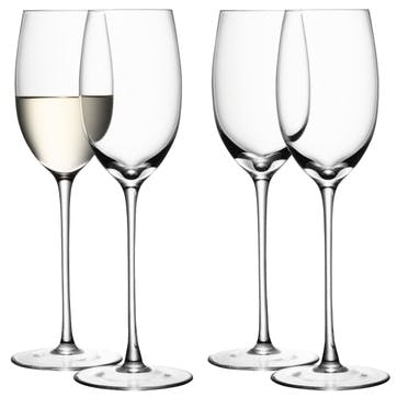 LSA Wine White Wine Glass 340ml, Set of 4