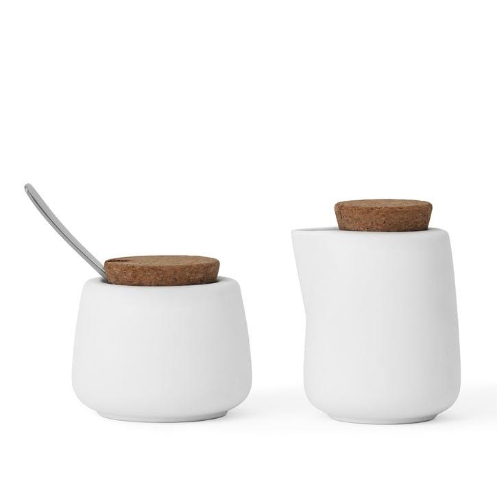 Nicola Milk & Sugar Pot Set, White