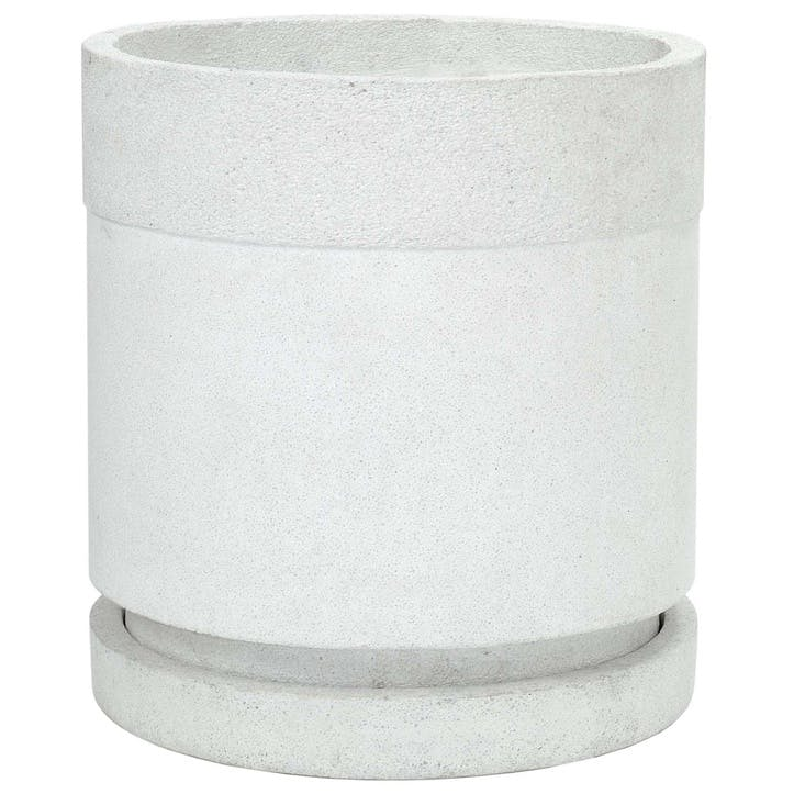 Urban Cylindrical Planter - Large; White