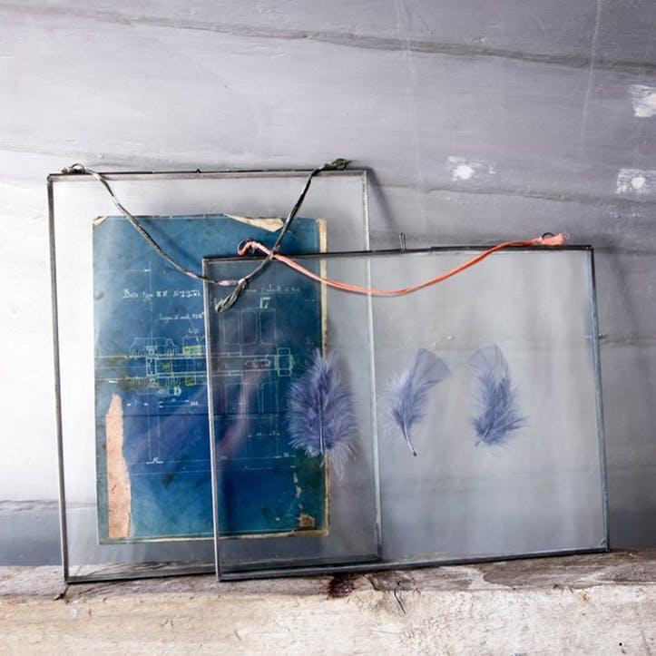 Extra Large Kiko Glass Frame Zinc - Landscape