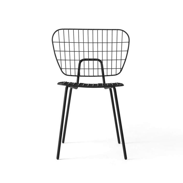WM String, Pair of Dining Chairs, H72 x W66 x D53cm, Black
