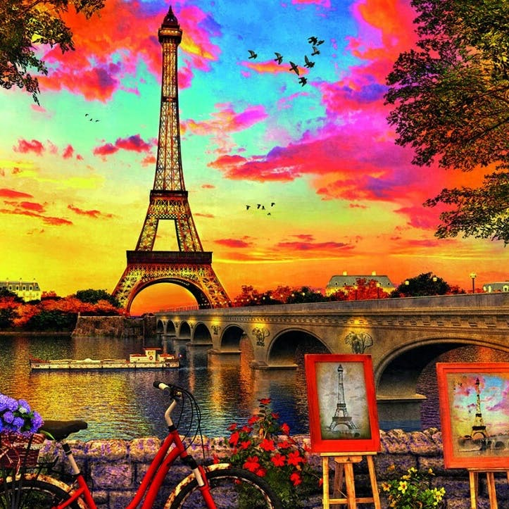 Sunset in Paris 3000 piece Jigsaw Puzzle