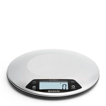 Round Digital Kitchen Scales, Matt Steel