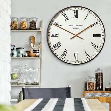Clocksmith Clock, 76cm; Black & White