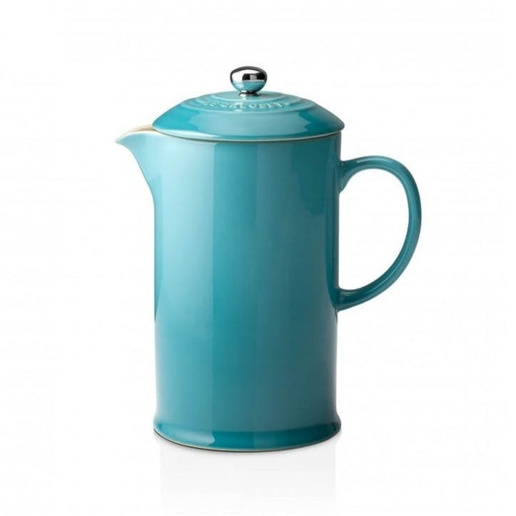 Stoneware Cafetiere with Metal Press; Teal