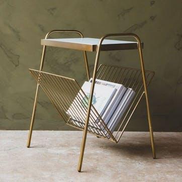 Magazine Rack Side Table