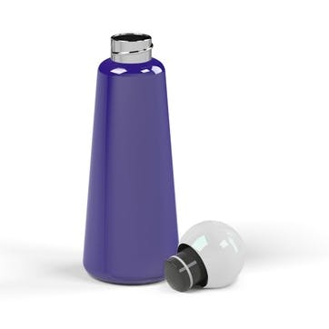 Skittle, Water Bottle, 500ml, Indigo & White
